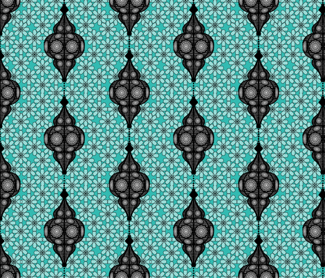 moroccan lantern turquoise fabric by michaelakobyakov on Spoonflower - custom fabric