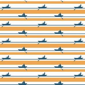 Rowers Stripe blue and orange
