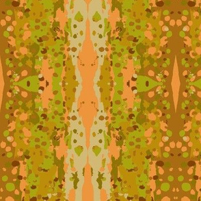 abstract art rainbow trout in autumn colors