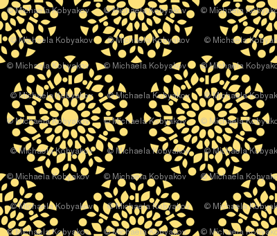 floral ornament yellow