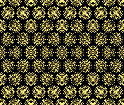 floral ornament yellow fabric by michaelakobyakov on Spoonflower - custom fabric