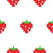 Pacman Retro Video Game Strawberreis on White