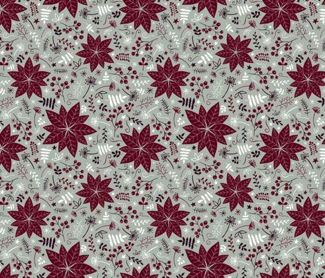 Christmas Spirit - Green fabric by diseminger on Spoonflower - custom fabric