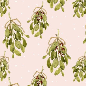 Snow and Mistletoe Pink