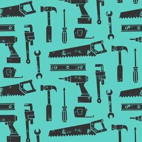 tools - grey and aqua
