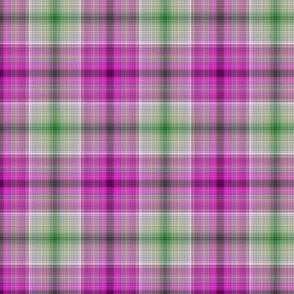 f-purple and green plaid