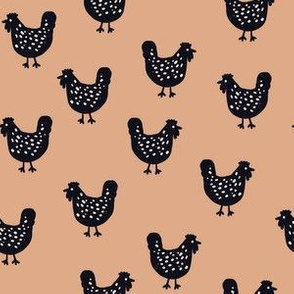 Chooks Revisited - terracotta