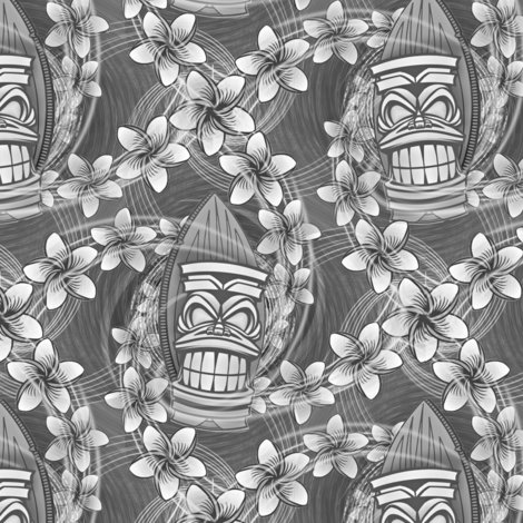 Rrrhawaii-tiki-black-white-plumeria-aloha-hawaiian-shirt-print-fabric-wallpaper-by-borderlines-original-and-rock-n-roll-textile-design_shop_preview