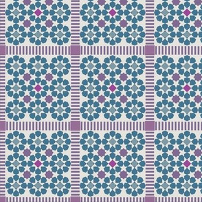 Pink and Blue Moroccan Tile