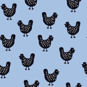 Chooks Revisited - blue