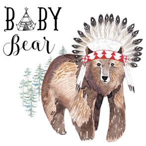 "42""X108"" - 42"" X 54"" PRINT - BABY BEAR"