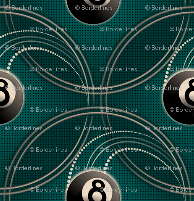 ★ MAGIC EIGHT BALL in TEAL ★ Large Scale Print