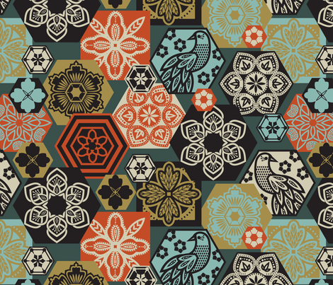 marrakesh floral fabric by cjldesigns on Spoonflower - custom fabric