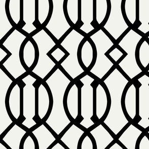 Thin Black Trellis