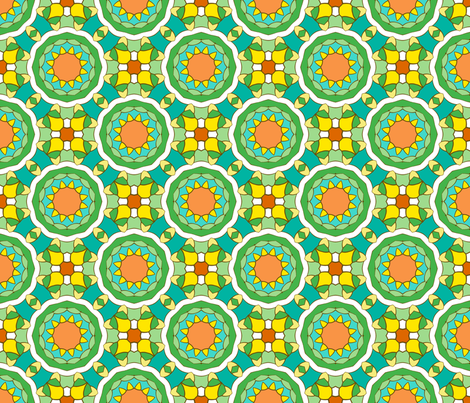 Sunny Marrakesh fabric by inscribed_here on Spoonflower - custom fabric