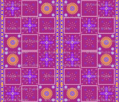 Marrakesh Bright Petal Jewelled Medallions Spoonflower