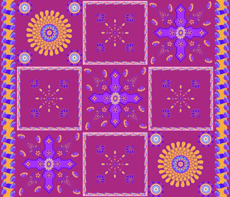 Marrakesh Bright Petal Jewelled Medallions Spoonflower fabric by fabricatedframes on Spoonflower - custom fabric
