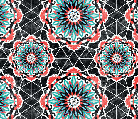 Moroccan Inspired Pattern fabric by maratus_funk on Spoonflower - custom fabric