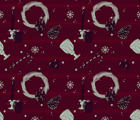 Textured Winter Holiday fabric by sidesignloft on Spoonflower - custom fabric