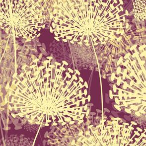 Vintage Violet Dandelions