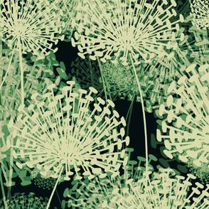 Green Dandelions