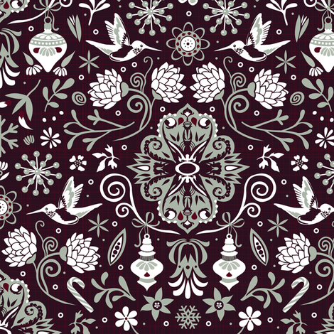 Elegant winter fabric by camcreative on Spoonflower - custom fabric