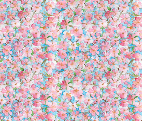 Blossoms fabric by chescaspring on Spoonflower - custom fabric