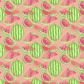 Watermelons on Pink