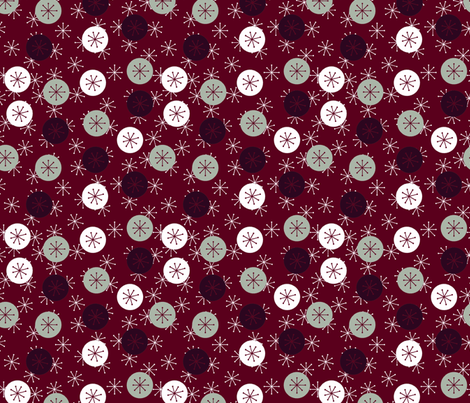 Atomic Snow - Holiday Colorway fabric by engravogirl on Spoonflower - custom fabric