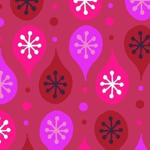 Folk Art Festive Pattern - Pink