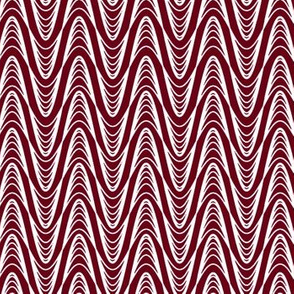 Atomic Wave Zig-Zag - Cranberry