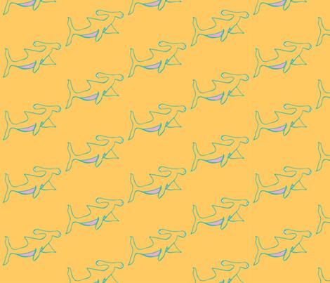 Hammerhead Shark fabric by somecallmesarah on Spoonflower - custom fabric