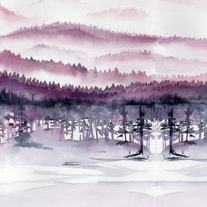 Dusky Rose Mountains