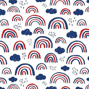4th of July abstract rainbow clouds happy rain sky usa gender neutral