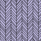 herringbone feathers light purple on black