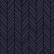 herringbone feathers midnight blue on black