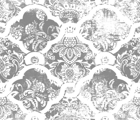 Moroccan Impressions Gray  fabric by chicca_besso on Spoonflower - custom fabric