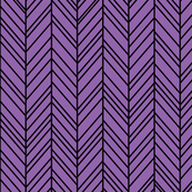herringbone feathers purple amethyst on black