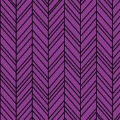 herringbone feathers purple grape on black