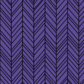 herringbone feathers purple on black