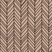 herringbone feathers toasted nut on black
