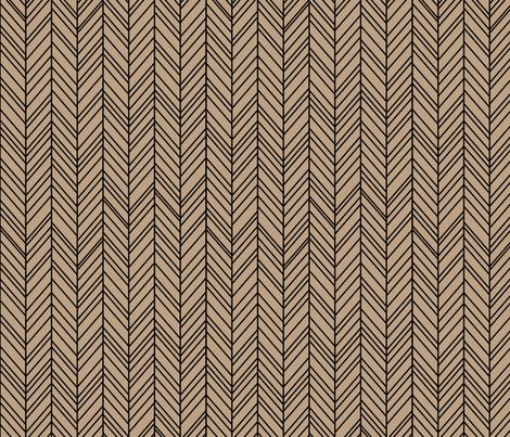 herringbone feathers tan on black fabric by misstiina on Spoonflower - custom fabric