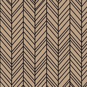 herringbone feathers tan on black