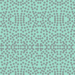 A Lacy Mesh of Twinkling Dots on Aqua Pearl