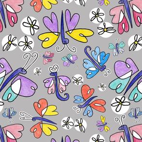 Butterflies n Polka Dot Daisys