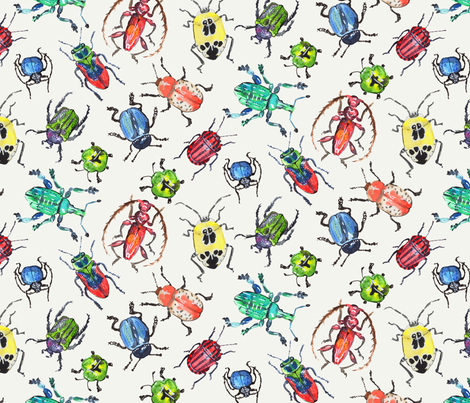 Das grosse Krabbeln fabric by patterista on Spoonflower - custom fabric