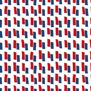 American stripes in blue and red for 4th of July national holiday celebrations abstract brush strokes