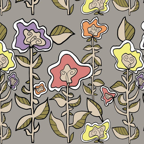 Frivolous Flowers Border