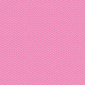 Babouche Peony Pink Chevron Stripe