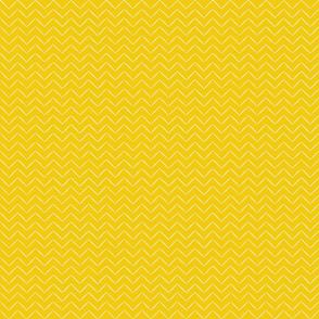 Babouche Saffron Chevron Stripe